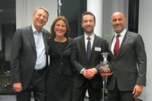 Walter Gunz (Mitgründer Media Markt und Saturn), MPE, Stefan Seyler (Deutsche Apotheker- und Ärztebank), Thomas Baum (Moet Hennessy)