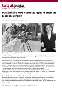 Beitrag vom 8. Maerz 2017 auf tabula rasa - Zeitung für Gesellschaft aund Kultur ueber MPE-UPDATE am 7. Maerz 2017 und MPE-MEDIA-CONNECT