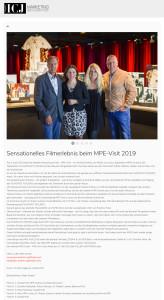 Sensationelles Filmerlebnis beim MPE-Visit 2019 - www.icj-mm.de