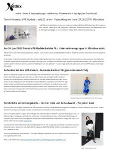 Terminhinweis_ MPE Update – seit 23 Jahren Networking mit Herz-xethix.com