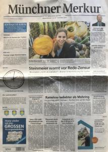 Münchner Merkur_1_ vom 26. Okt 2019_Titelseite